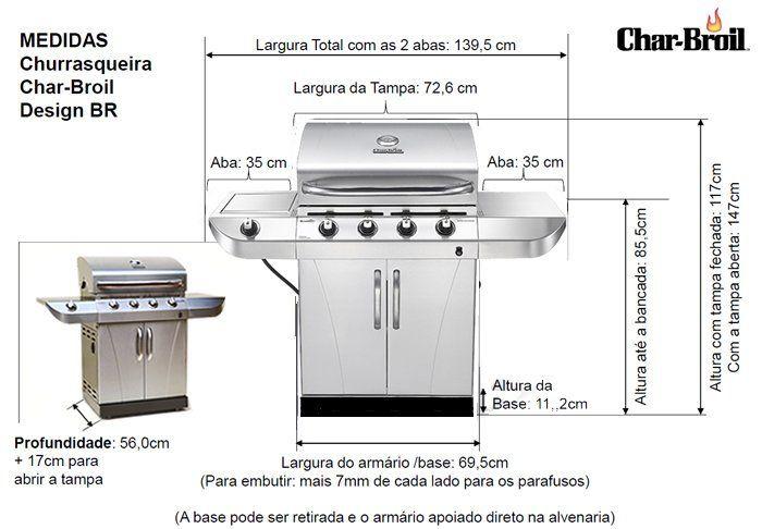 Char-Broil DESIGN BR 2015 - Churrasqueira a Gás - Char-Broil Churrasqueira