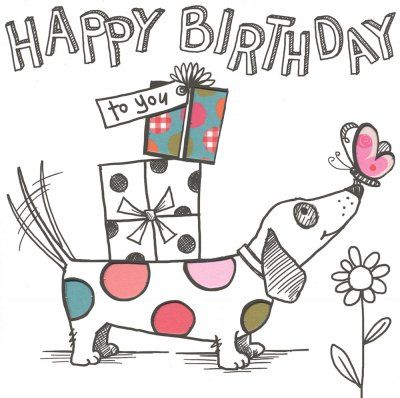 Birthday card - 'Sausage Dog'