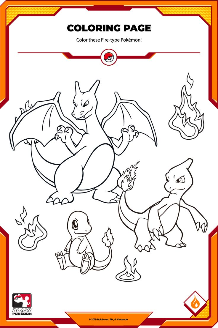 Charmander, Charmeleon and Charizard are ready for battle! Just add color! Type Pokemon, Play Pokemon, Charmander, Charizard, Coloring Pages, Fire, Battle, Fictional Characters, Pokemon Coloring Pages