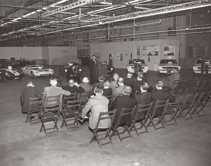 Mustang Shelby GT350 Meeting At LAX With Ford Executives. From The George  Watters Collection.