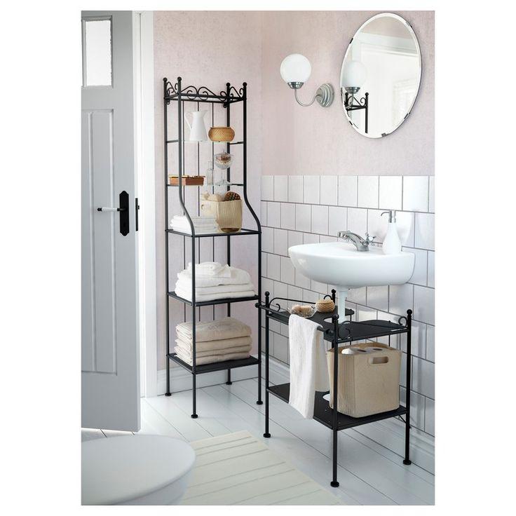 petite salle de bain étagère salle de bain ikea rangement ...