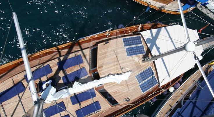M/S Trippin luxury gulet from the mast , blue cruise, blue voyage