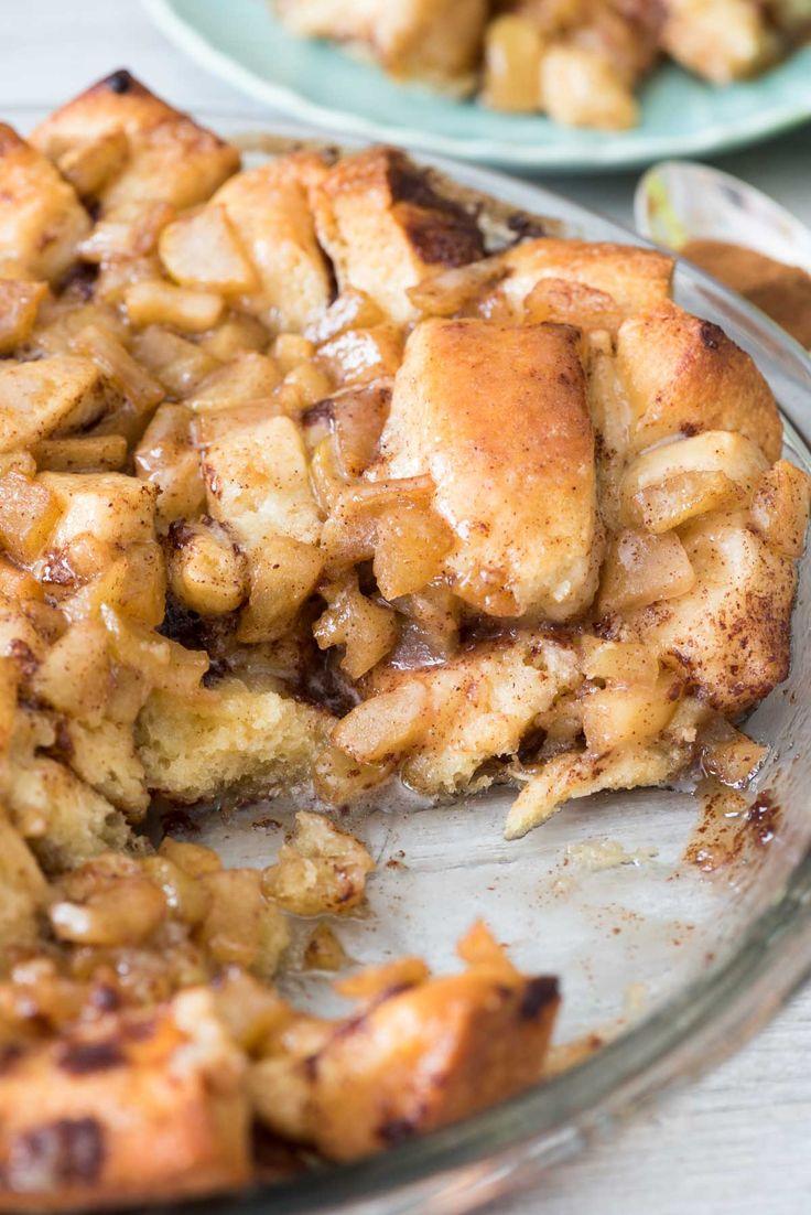 Apple Fritter Cinnamon Roll Bake - easy breakfast idea.