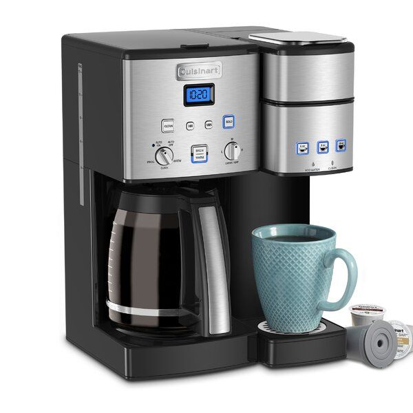 Cuisinart Coffee Center 12 Cup Coffeemaker And Single Serve Brewer In 2020 Single Coffee Maker Coffee Center Coffee Maker