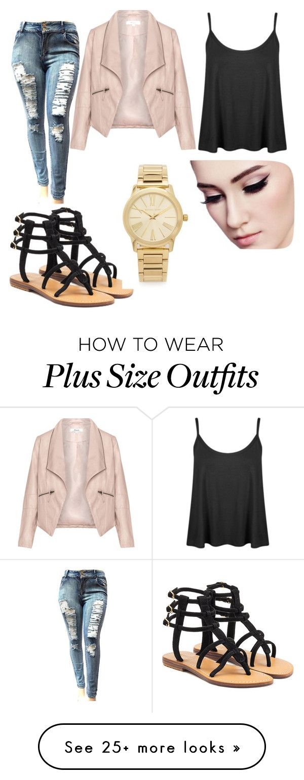 """Plus Size"" by t6019090016 on Polyvore featuring Zizzi, Mystique and Michael Kors"
