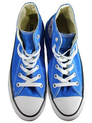 Converse Chuck Taylor All Star Electric Blue Lemonade Hi-Top Trainers