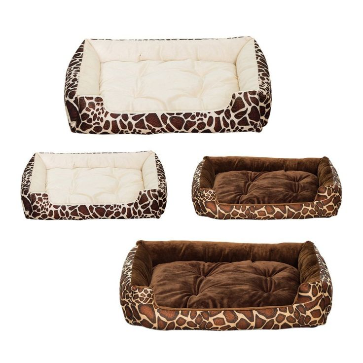 Dog Bed Deer Print Cotton Nest Mat Pet Soft Warm Basket Bed Extra Comfy Nonslip And Moistureproof Bottom Xxs Beige You Can Get Even Mor Dog Bed Deer Print Bed