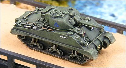 GHQ Sherman 1/285 Scale Better Detail than any 15mm!