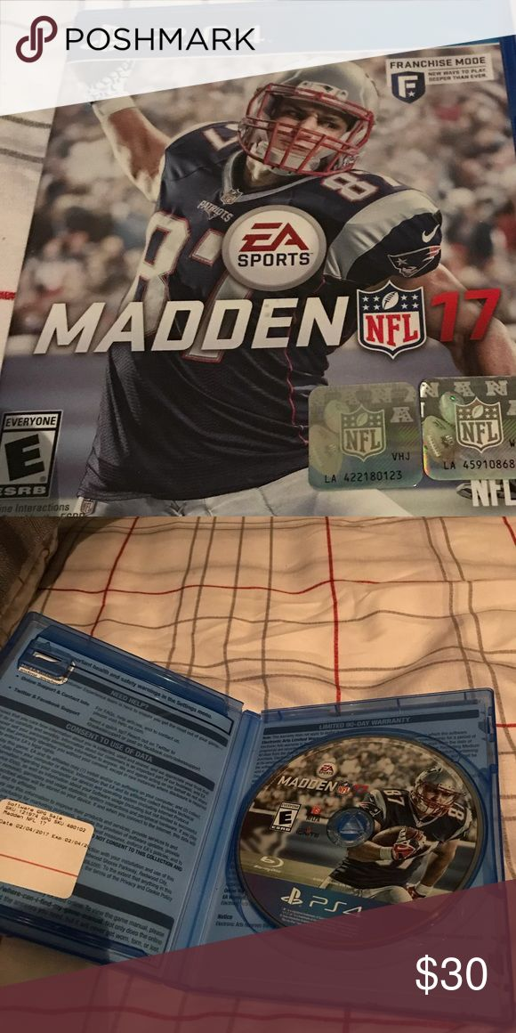 Madden 17 for PlayStation 4 I received this game February of 2017. I played this game with my cousin on and offline but we both upgraded to the newest version of this game. I believe that this game is in great condition. Other