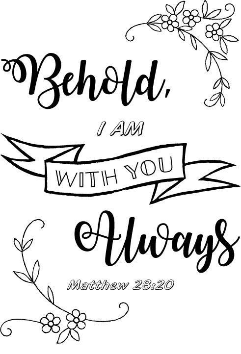 Matthew 28 20 kjv page coloring pages for Kjv coloring pages