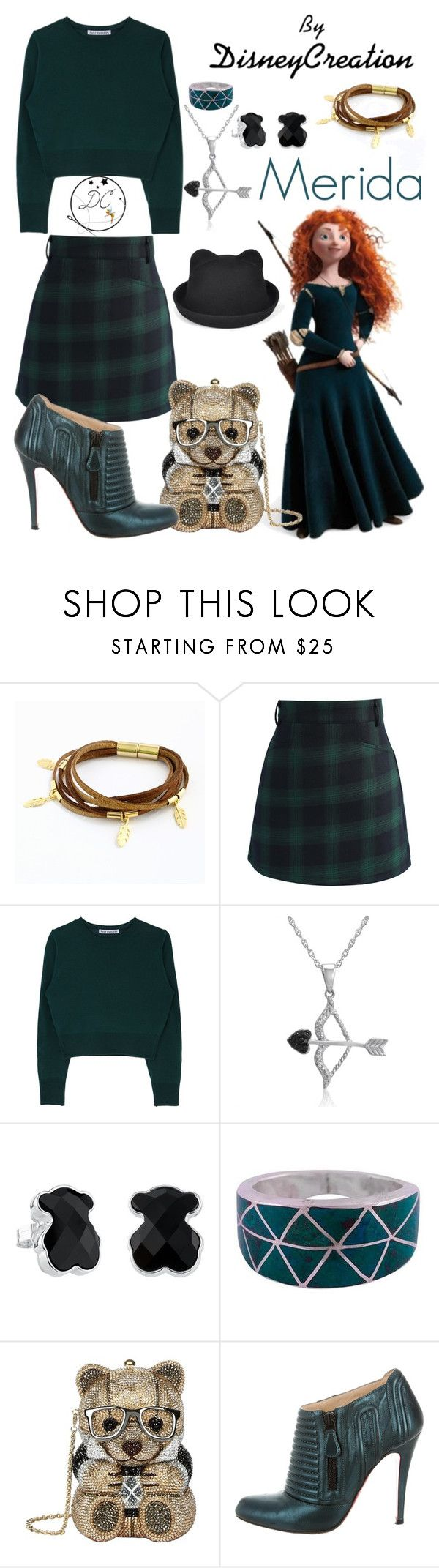 """""""Merida - By DisneyCreation"""" by disneycreation ❤ liked on Polyvore featuring Merida, Chicwish, Amanda Rose Collection, TOUS, NOVICA, Judith Leiber and Christian Louboutin"""