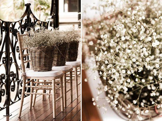 baby breath: Buckets, Winter Style, Baskets, Flower Showers, Baby Breath Bouquets, Polka Dots Bride