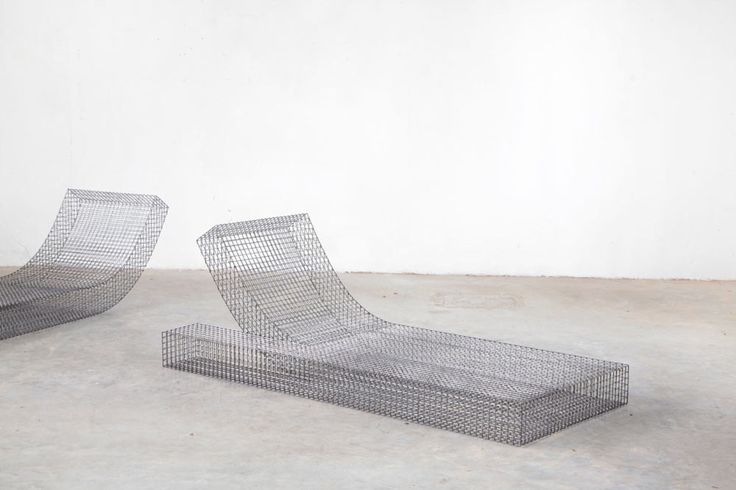 Curved, Outdoor Loungers designed by Muller Van Severen