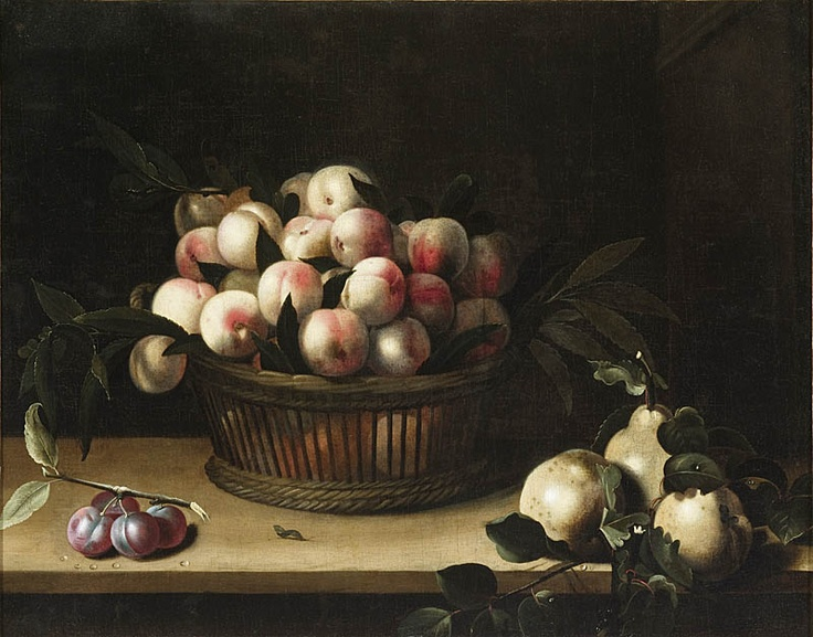 Clara Peeters Basket of peaches, with quinces and plums 1641