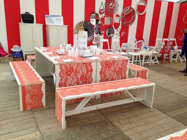 #Libellezomerweek Workshop #cosmetica voor de dames. #beurs -geprinte picknick sets-