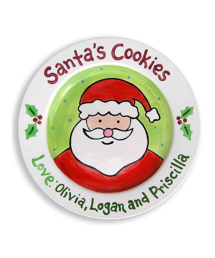 cookies from us plate make your holiday traditions extra special with theses adorable hand painted plates