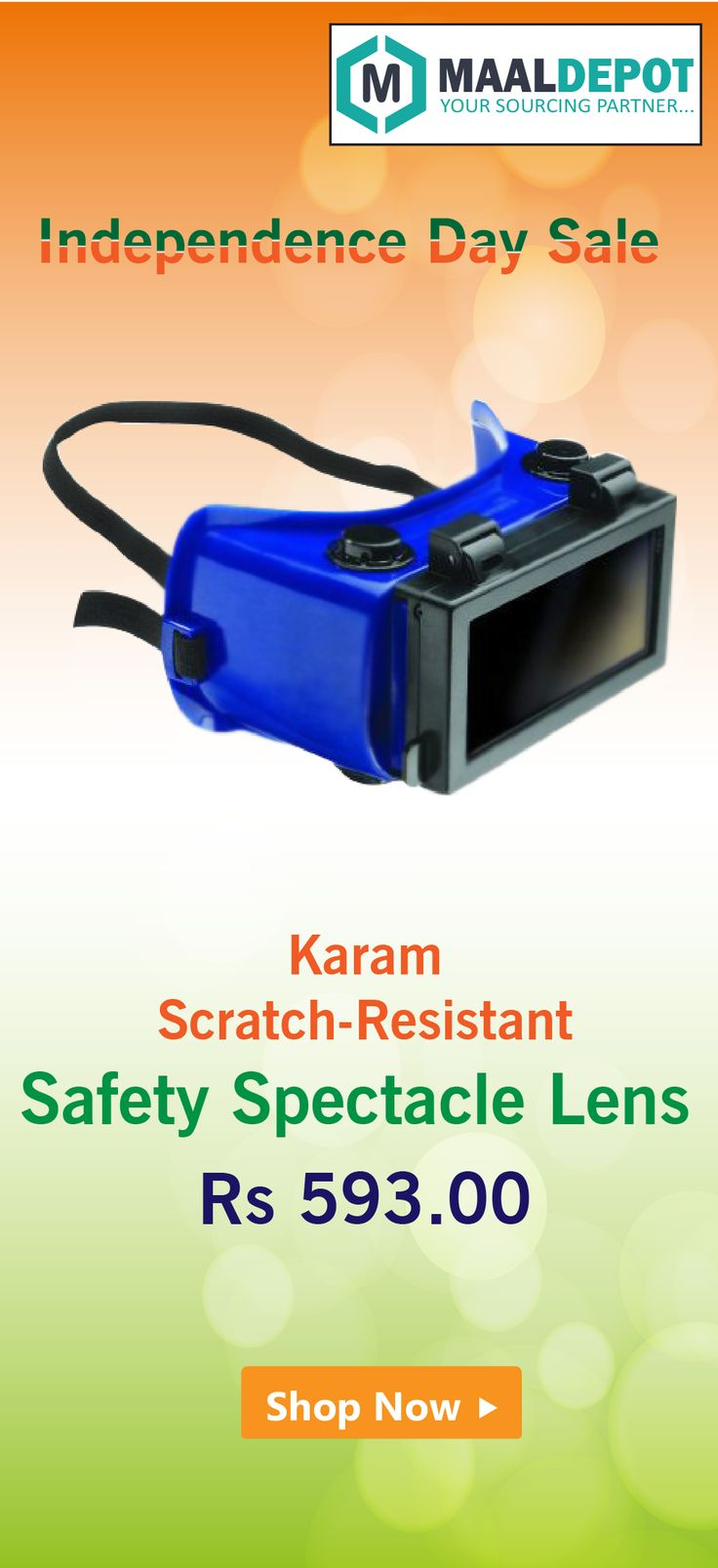 Karam ES004 Scratch Resistant Safety Spectacle with Special IR Lenses keeping in mind Rapid Development in Infrared and Welding Technology. Shop at http://bit.ly/2be4pOC for affordable prices. To place orders,call or whatsapp to 9019156789