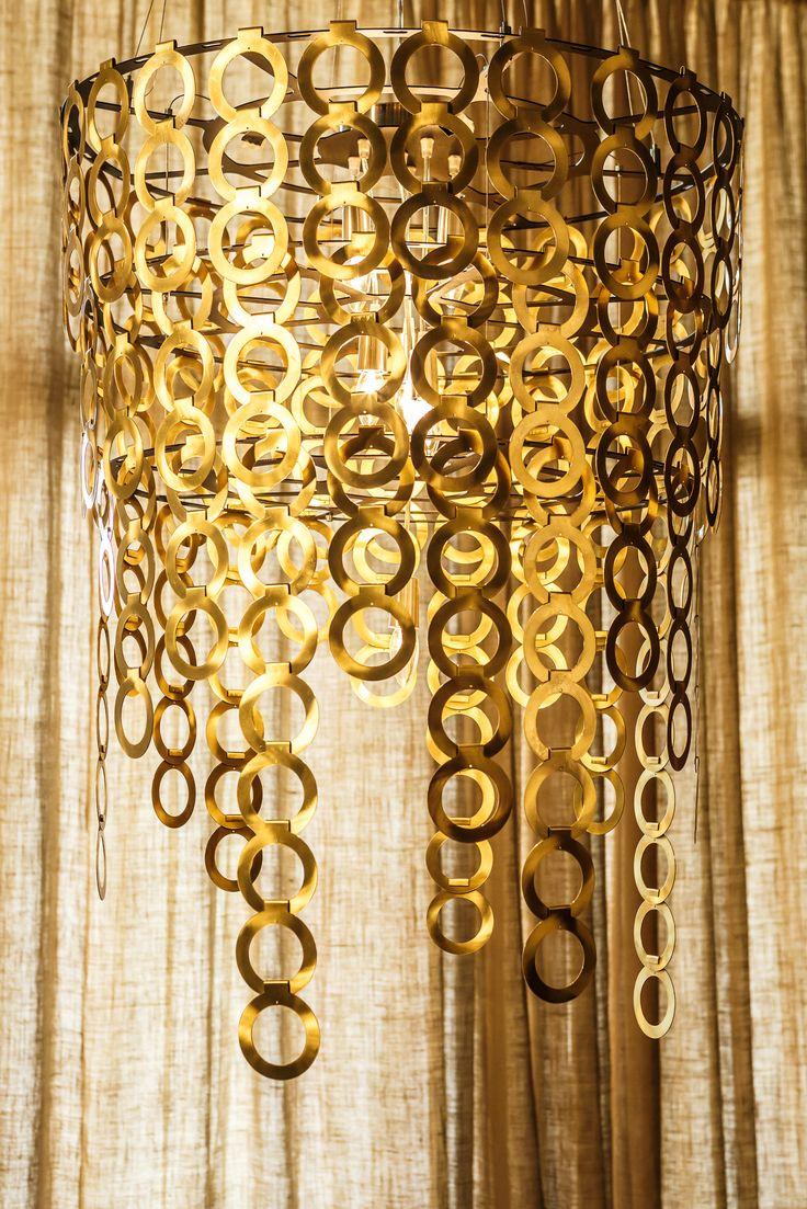 Oval Brass Surilight chandelier