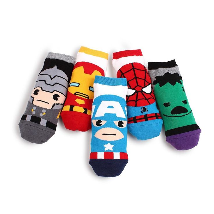 Price:EUR 9.90 free shipping Marvel Heroes Socken Packung von 5 Paare  #socks #freeshipping #captain #america #spider #iron #marvel