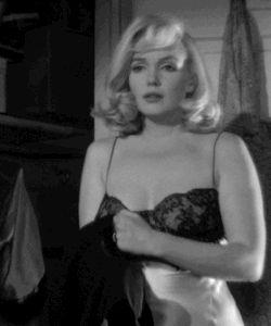 my gif gif marilyn monroe 1960s pinup 60s 1961 the misfits vintage lingerie slip marilyn monroe gif
