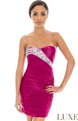 Elegantné prom mini šaty  Diamante Glam Bodycons dekoráciou