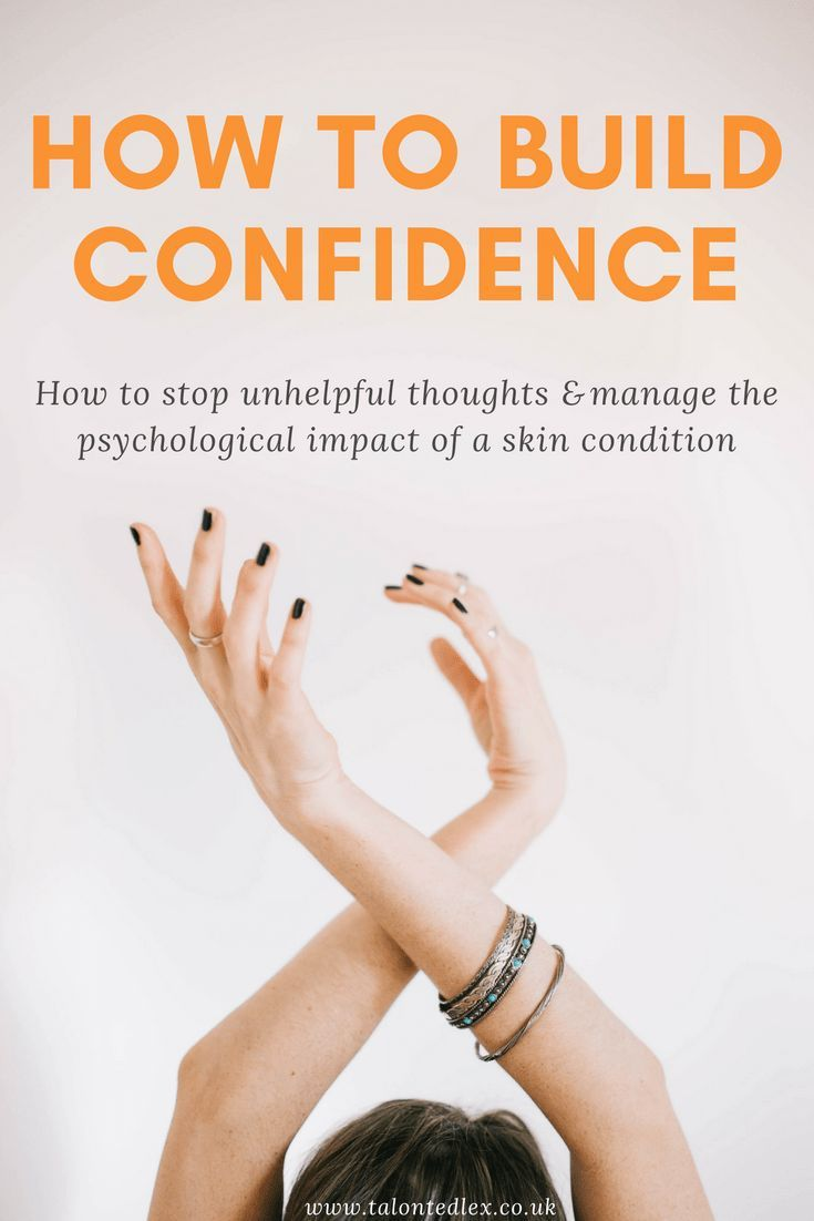 How to build confidence (tips and advice, from someone with rosacea)