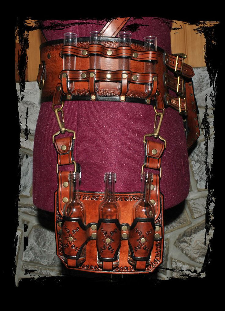 steampunk leather belt utility by *Lagueuse on deviantART