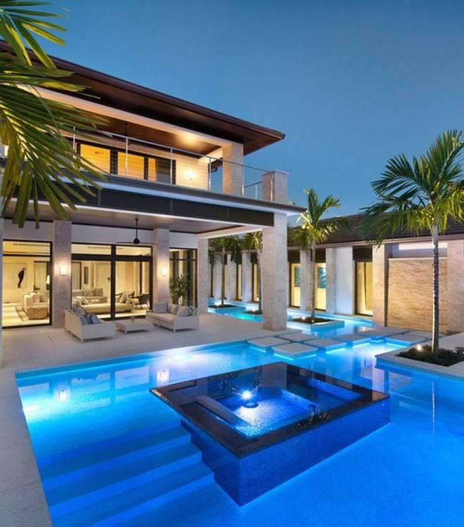 Elegant House Design With Pool House Designs Exterior Swimming Pool Designs Luxury Homes Dream Houses