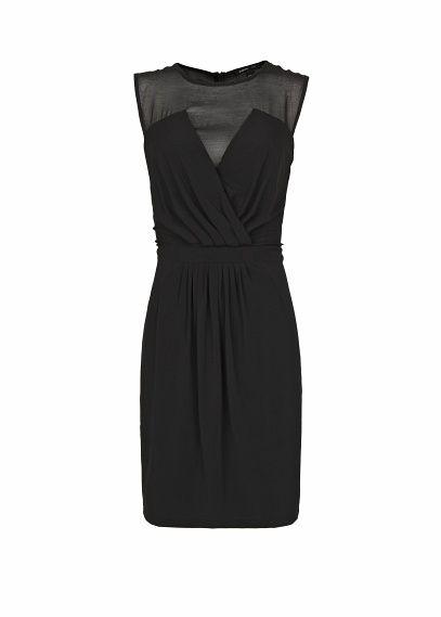 MANGO - Sukienka z półprzeźroczystą wstawką