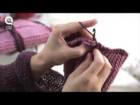 Realizzare un porta agenda a maglia/4 Presenta Emma Fassio - YouTube