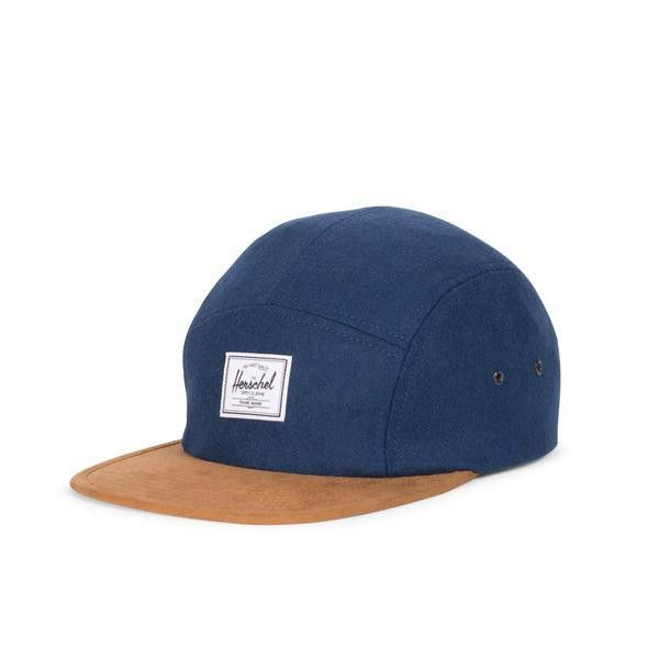 Glendale Wood and Suede Navy Cap by Herschel Supply Co.