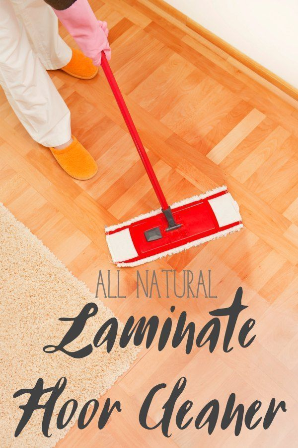 Simple Yet Powerful All-Natural Laminate Floor Cleaner. A great DIY green floor recipe.