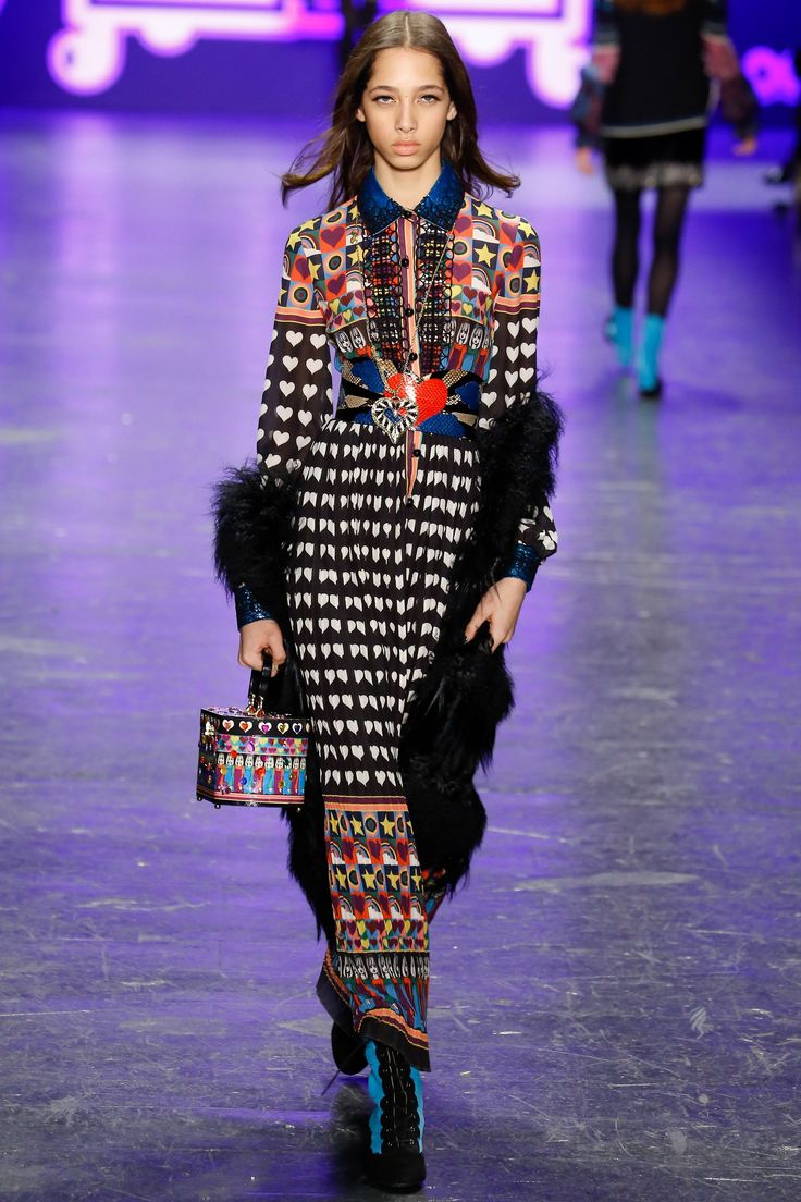 Anna Sui Fall 2016 Ready-to-Wear Fashion Show - Yasmin Wijnaldum