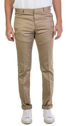 Prada Men's Slim Fit Khaki Chino Trouser Pants.