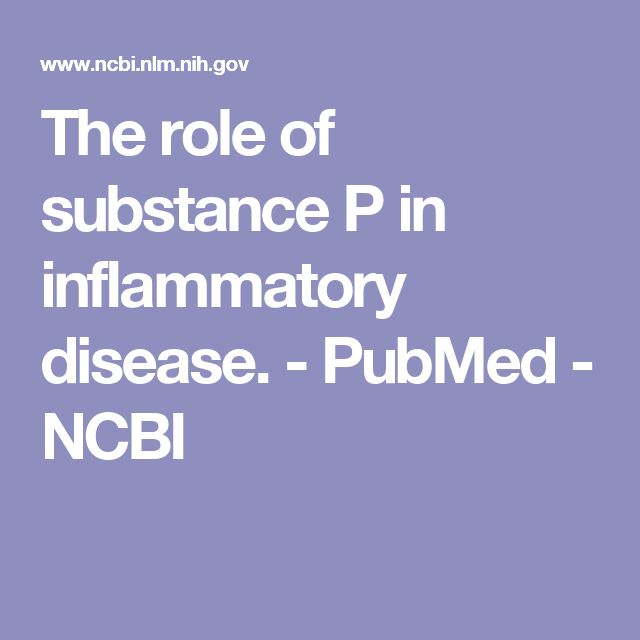The role of substance P in inflammatory disease.  - PubMed - NCBI
