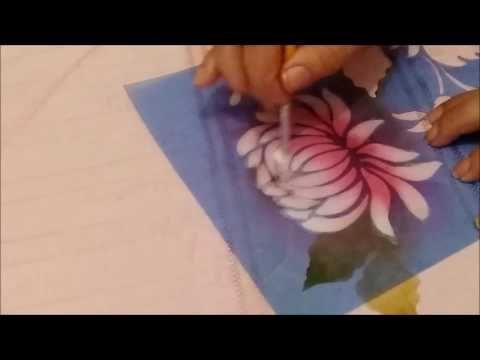 Stencil Litoarte - Hortênsia ♥ - YouTube