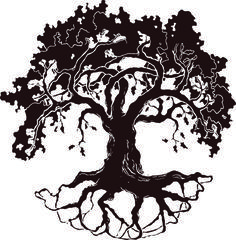 this is best oak tree silhouette white oak tree drawing clipart free clip art images for your project or presentation to use for personal or commersial