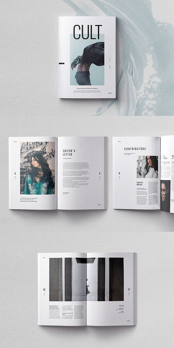 CULT Magazine Template #broschüre #vorlage #indesign #magazin #lookbook