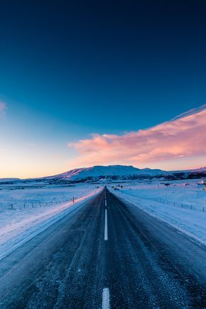 Sunset Road, The road back from Geysir, Iceland. by Lachlan Doig on 500px