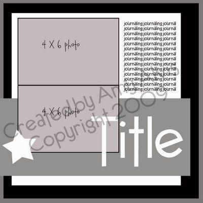 2 photo scrapbook sketch