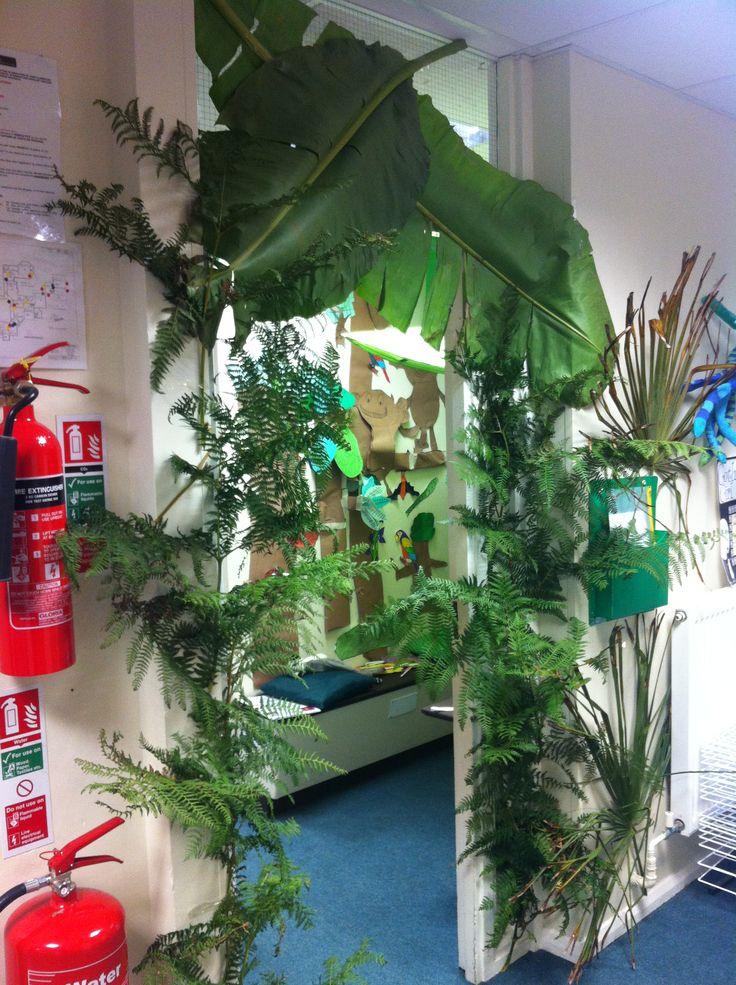 Classroom Reading Nook Ideas ~ Real rainforest classroom theme pinterest