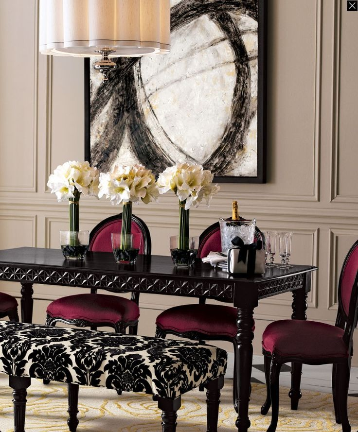ursula dining table very glam chic interior design. Black Bedroom Furniture Sets. Home Design Ideas