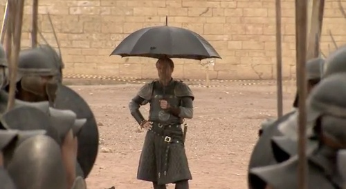 Ser Jorah, the Andal... Can't handle the sun. It is known.