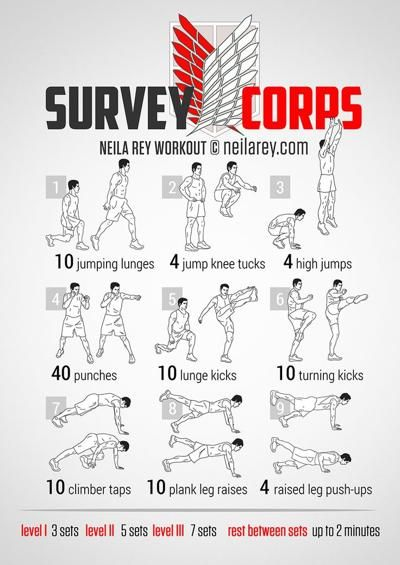 Survey Corps Attack on Titan Workout