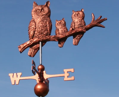Owl Weathervane for Greg's Storage Shed on Owl Pass