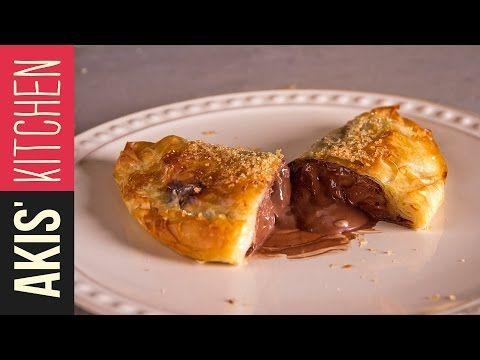 Quick chocolate banana calzone  | Akis Petretzikis