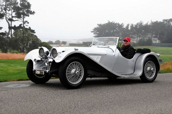 U.S. NEWS     August 27, 2013, 6:01 p.m. ET  A 1937 Jaguar SS100 That Still Purrs Pebble Beach Concours d'Elegance Chairman Sandra Button Shows Off Her Classic Car