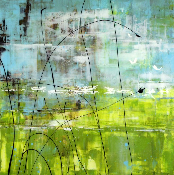 """Neil Young - 'Grasslands' Mixed Media on Panel 24""""h x 24'w"""