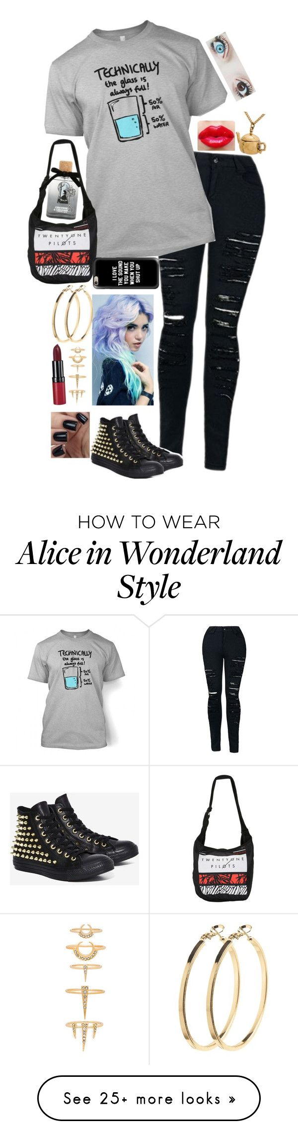 """Untitled #528"" by lilrawr on Polyvore featuring Converse, Casetify, Pieces, Luv Aj, Disney and Rimmel"