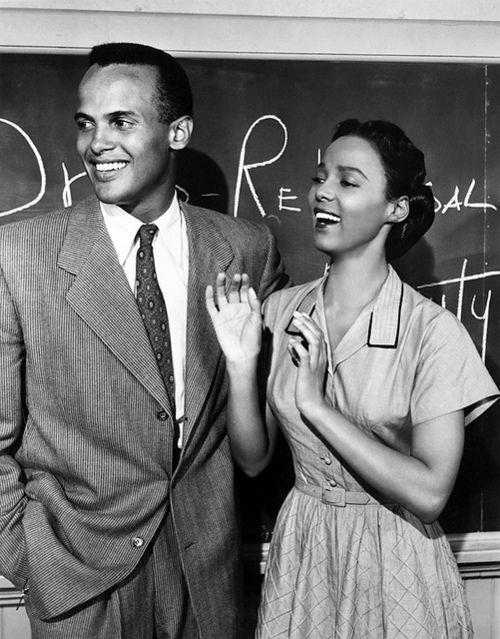 Harry Belafonte and Dorothy Dandridge